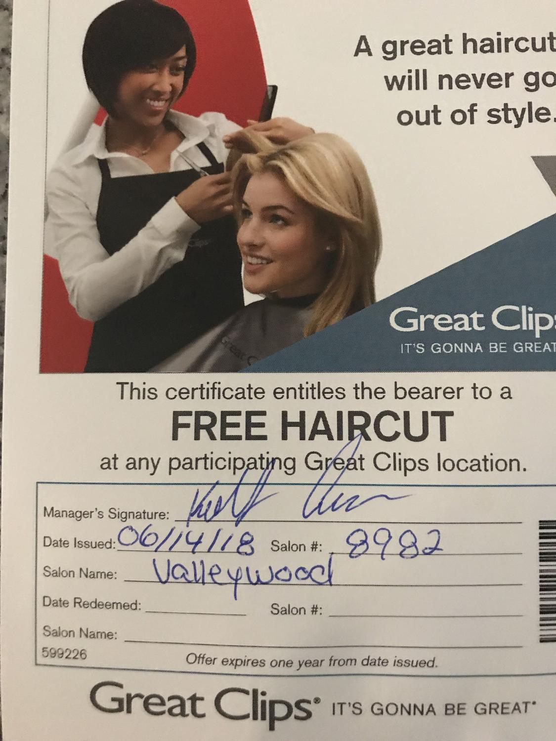 Find More Free Haircut From Great Clips For Sale At Up To 90 Off