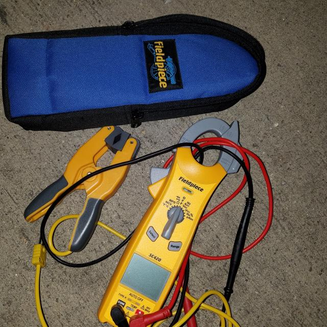 Fieldpiece Clamp Multimeter SC420 with Thermocouple