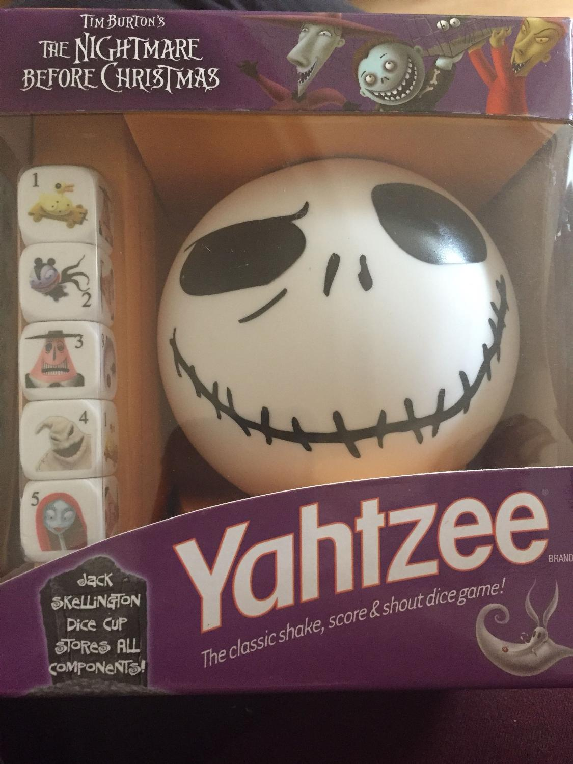 Find more Nightmare Before Christmas Yahtzee Travel Edition for sale ...