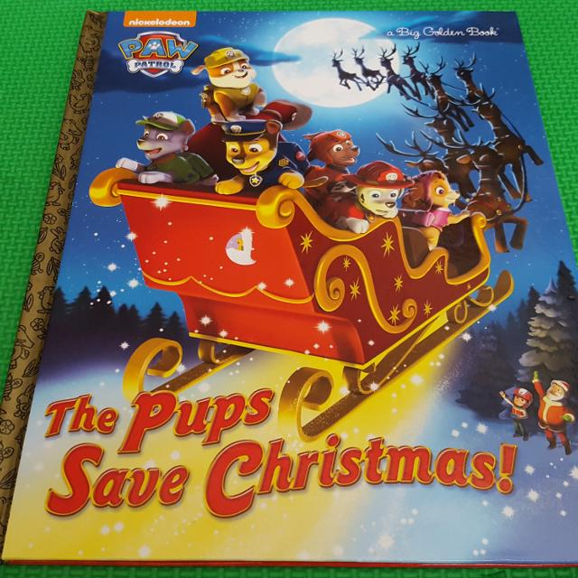 Pups Save Christmas Book.Paw Patrol The Pups Save Christmas Large Hardcover Book