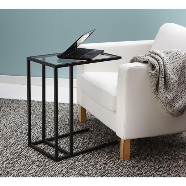 Brand New Bronw Black Side Table Under Couch Read In