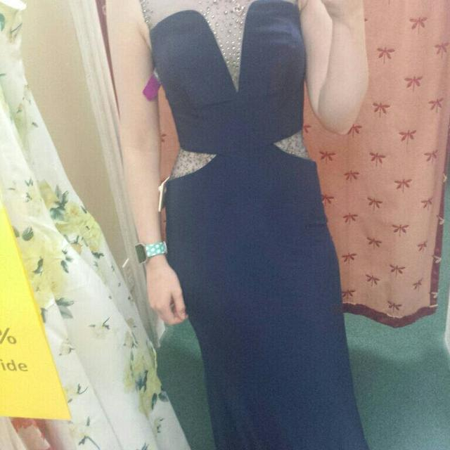 Best Navy Bluesee Thru Prom Dress For Sale In Mobile Alabama For 2018