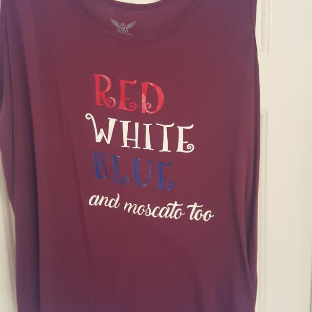 93860a50366e0 Find more Red White Blue And Moscato Too Tank Top. 3x. Gallatin for ...