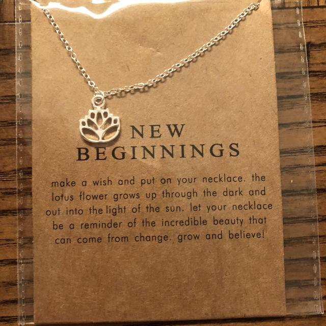 Find More New Beginnings Lotus Flower Necklace For Sale At Up To 90 Off