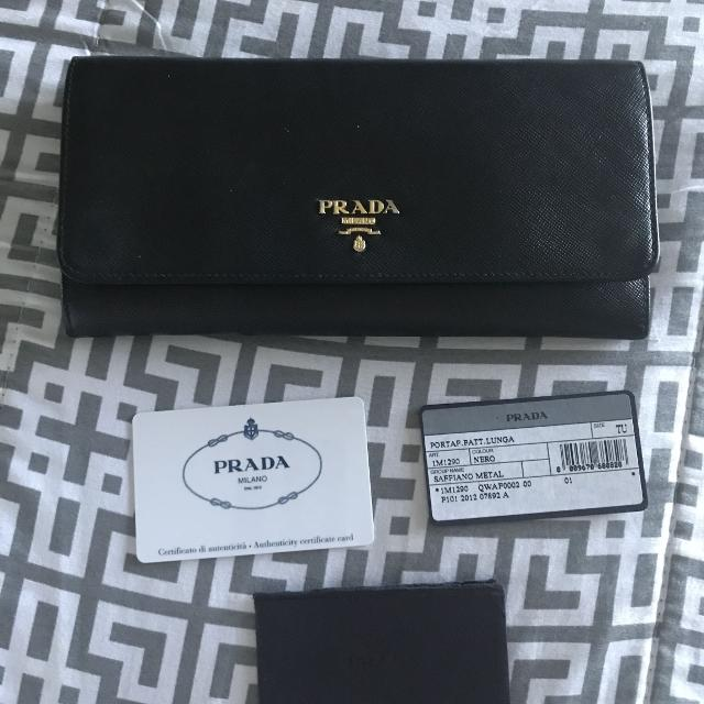 eabd800536c93c Find more Authentic Prada Wallet for sale at up to 90% off
