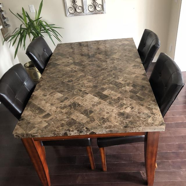 competitive price 0c399 94485 GORGEOUS 5 piece Montibello marble dining table