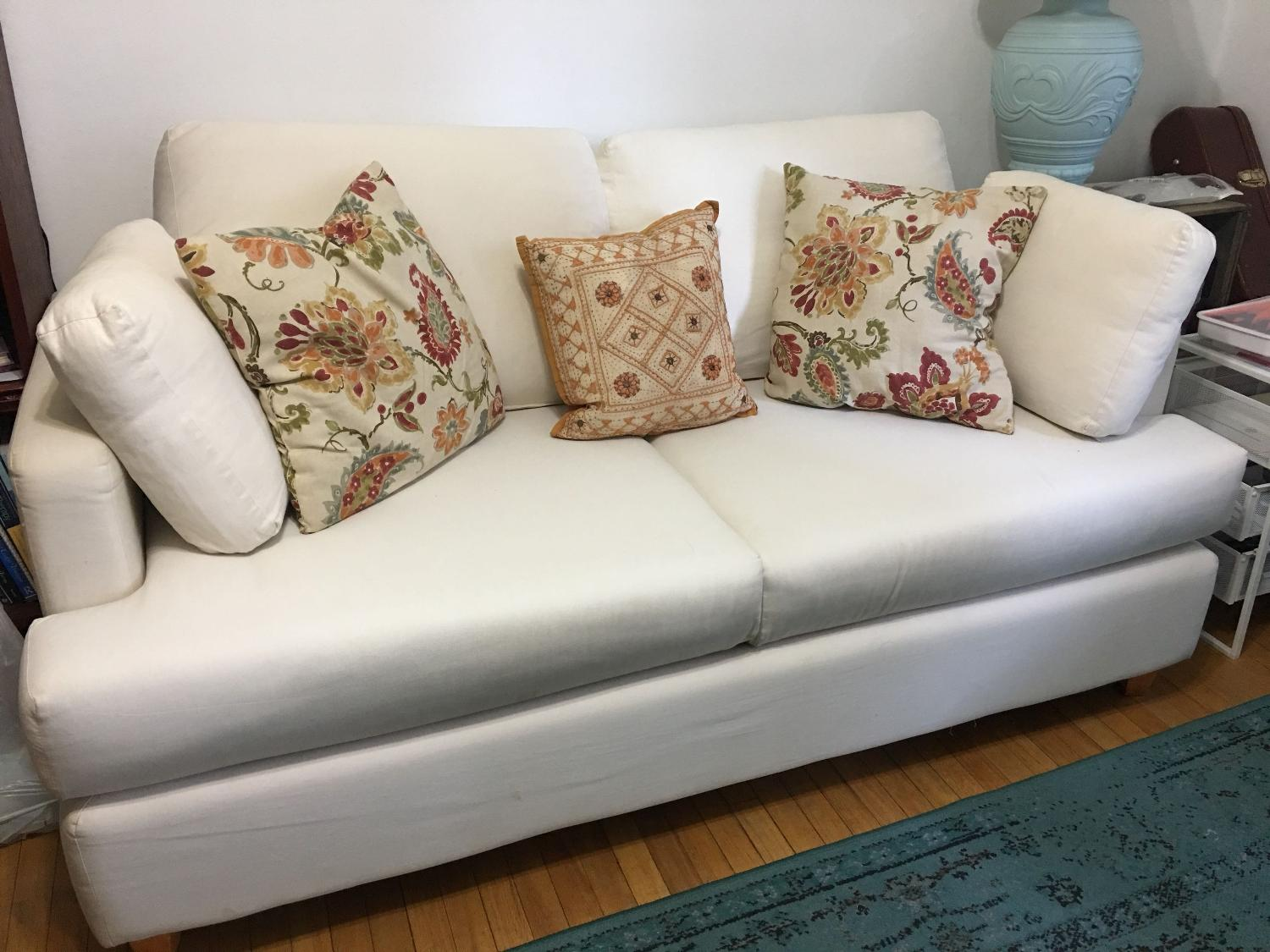 Best Ikea White Sofa W Pull Out Double Bed For Sale In