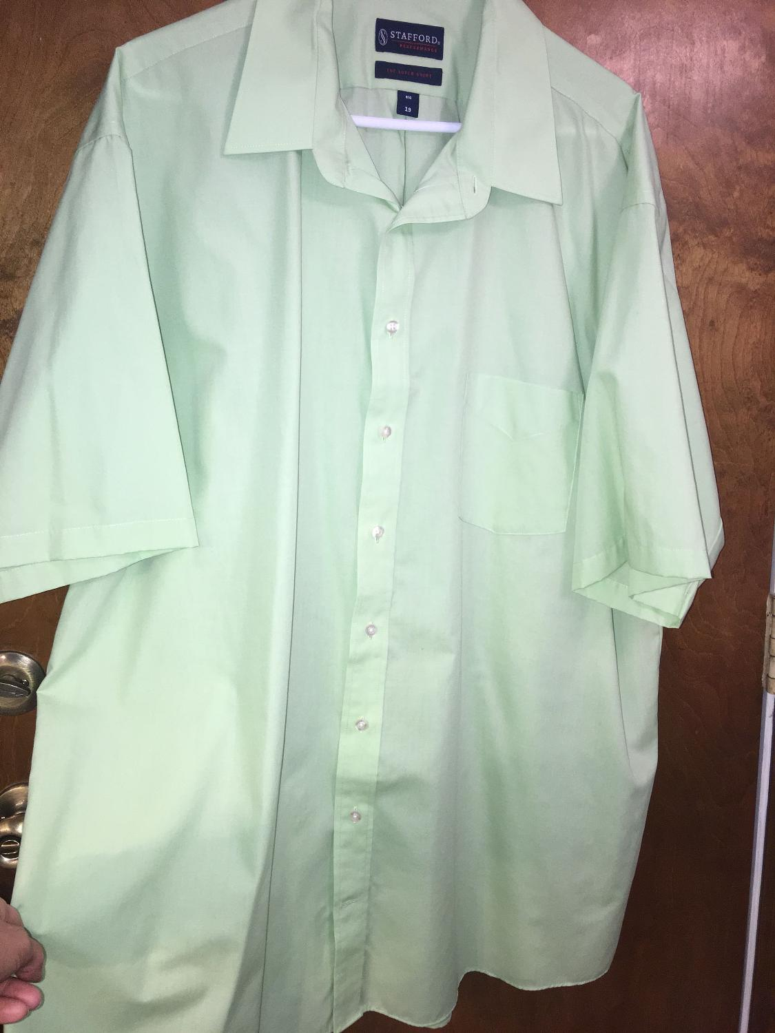 Find More Stafford Short Sleeve Dress Shirt Mens 3xl For Sale At Up