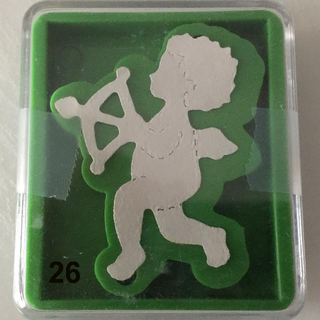 #26 RETIRED SIZZIX Green Small Die – CUPID – NEW - $1
