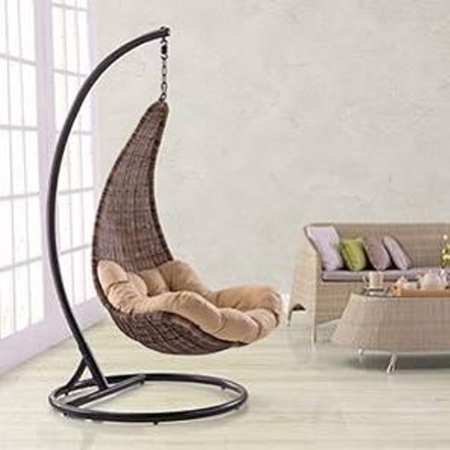Best Brand New Hanging Swing Chair Stand Cushion Basket For Sale In