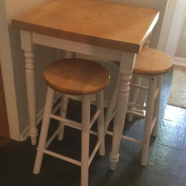 Find More Small Table And 2 Stools For Sale At Up To 90 Off