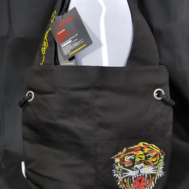 b90b1cb55968 Best Ed Hardy By Christian Audigier Nia Tiger 100% Cotton Tote Shoulder Bag  Black-new for sale in Oshawa