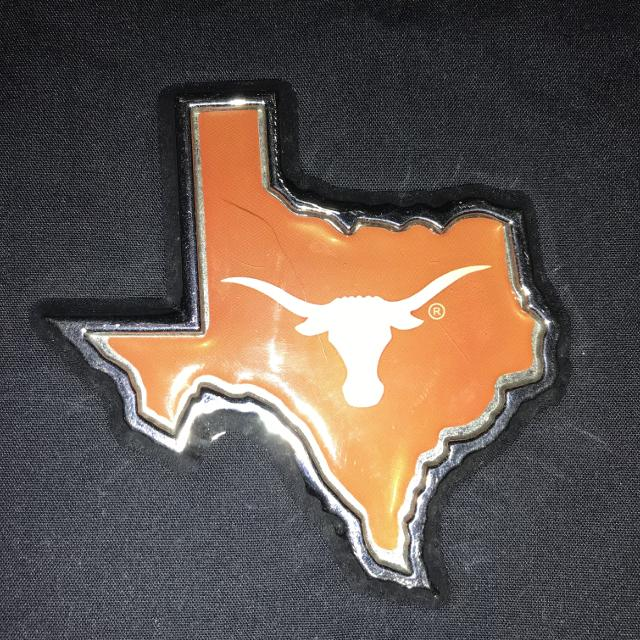 Find More Ut Texas Shaped Longhorn Logo Emblem W Chrome Metal Base
