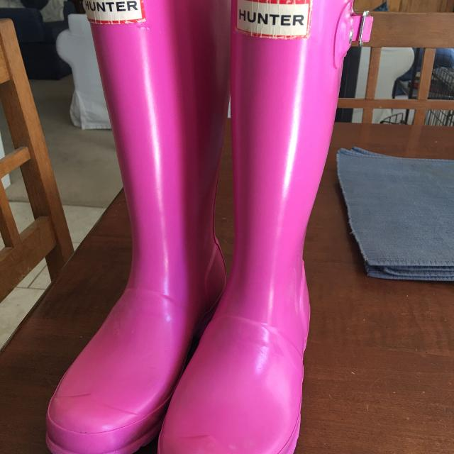 dd46182df Find more Guc Hot Pink Hunter Rainboots Youth Size 2 for sale at up ...