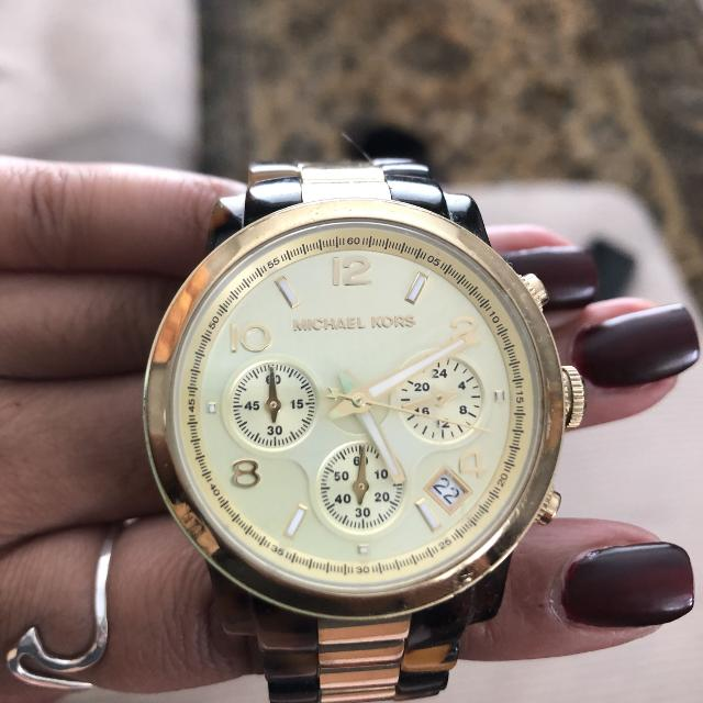 5f3fec3a6070 Find more Gold   Turtle Shell Michael Kors Watch for sale at up to ...