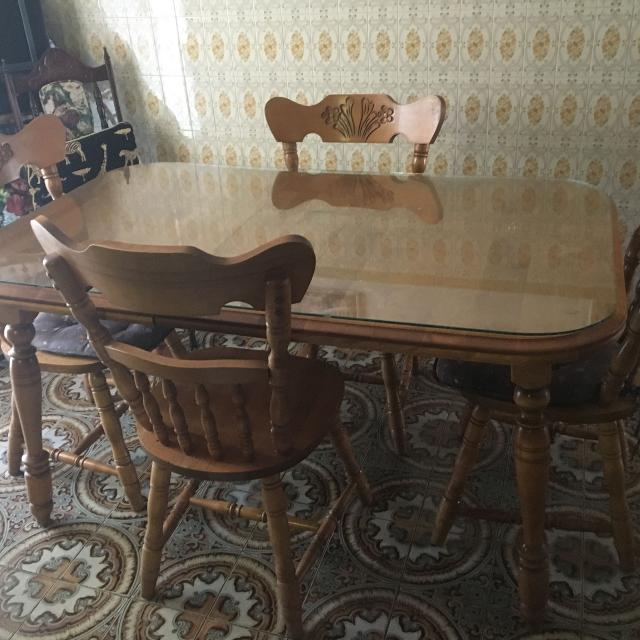 Kitchen Chairs For Sale: Best Kitchen Table Wood And 4 Chairs. Moving Sale. For