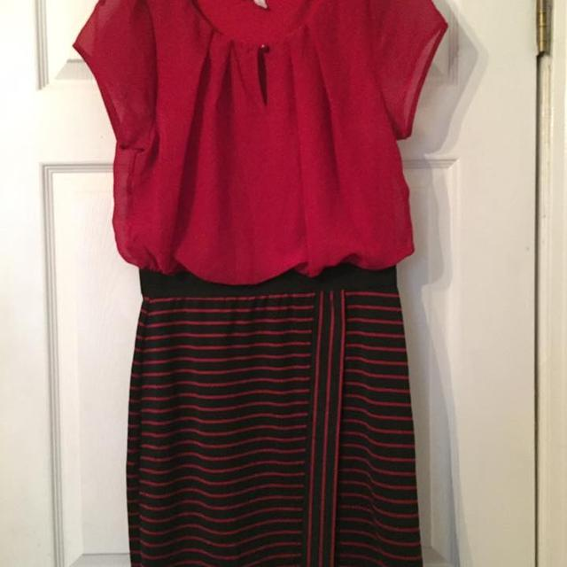 Best Red And Black Striped Dress Like New For Sale In Nashville