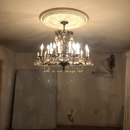 Antique Br Chandelier
