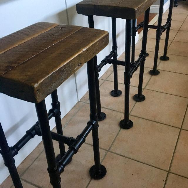Find More Height 265 3 X Thick Barn Wood Barcounter Stools With
