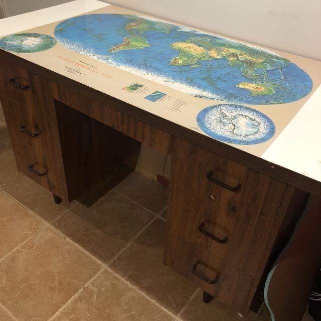 World Map Desk Best Vintage World Map Desk for sale in Yorkville, Ontario for 2019