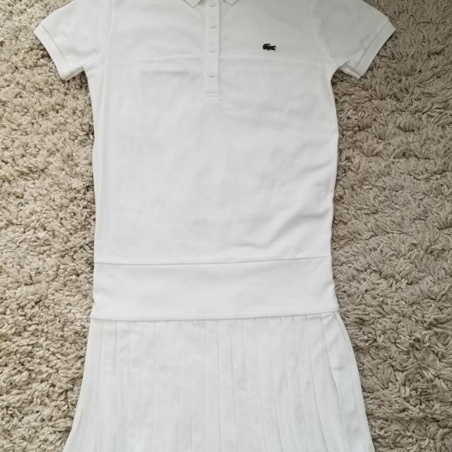 a82e311192 LACOSTE Golf/Tennis Summer dress. White. Medium