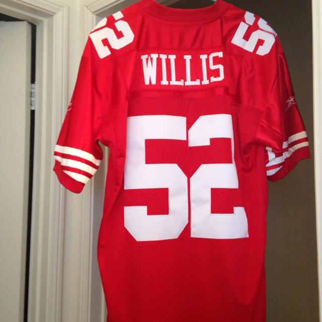 0f8d0d316ce Best Reebok Patrick Willis Jersey With Tags Size 50... Get Ready To Support  The Niners To Another Run To The Super Bowl! 50.00 for sale in Riverside