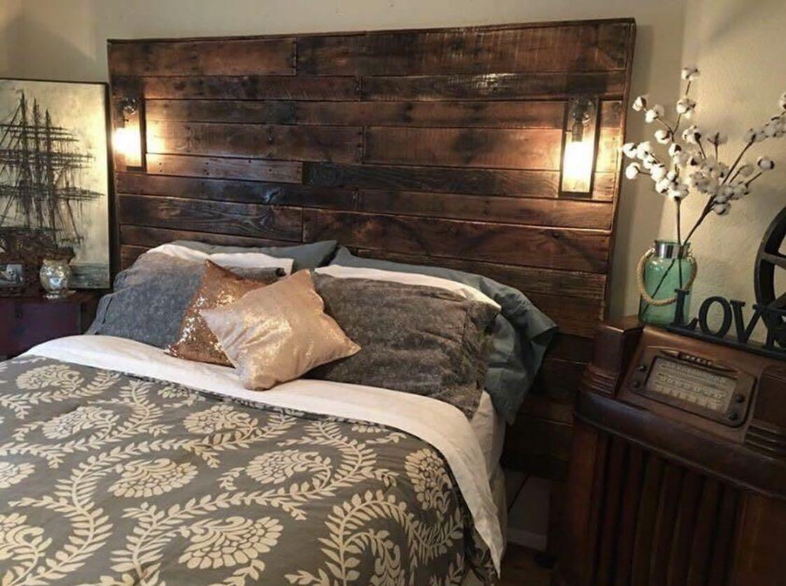 Best Handcrafted Rustic Reclaimed Wood Headboards For Sale