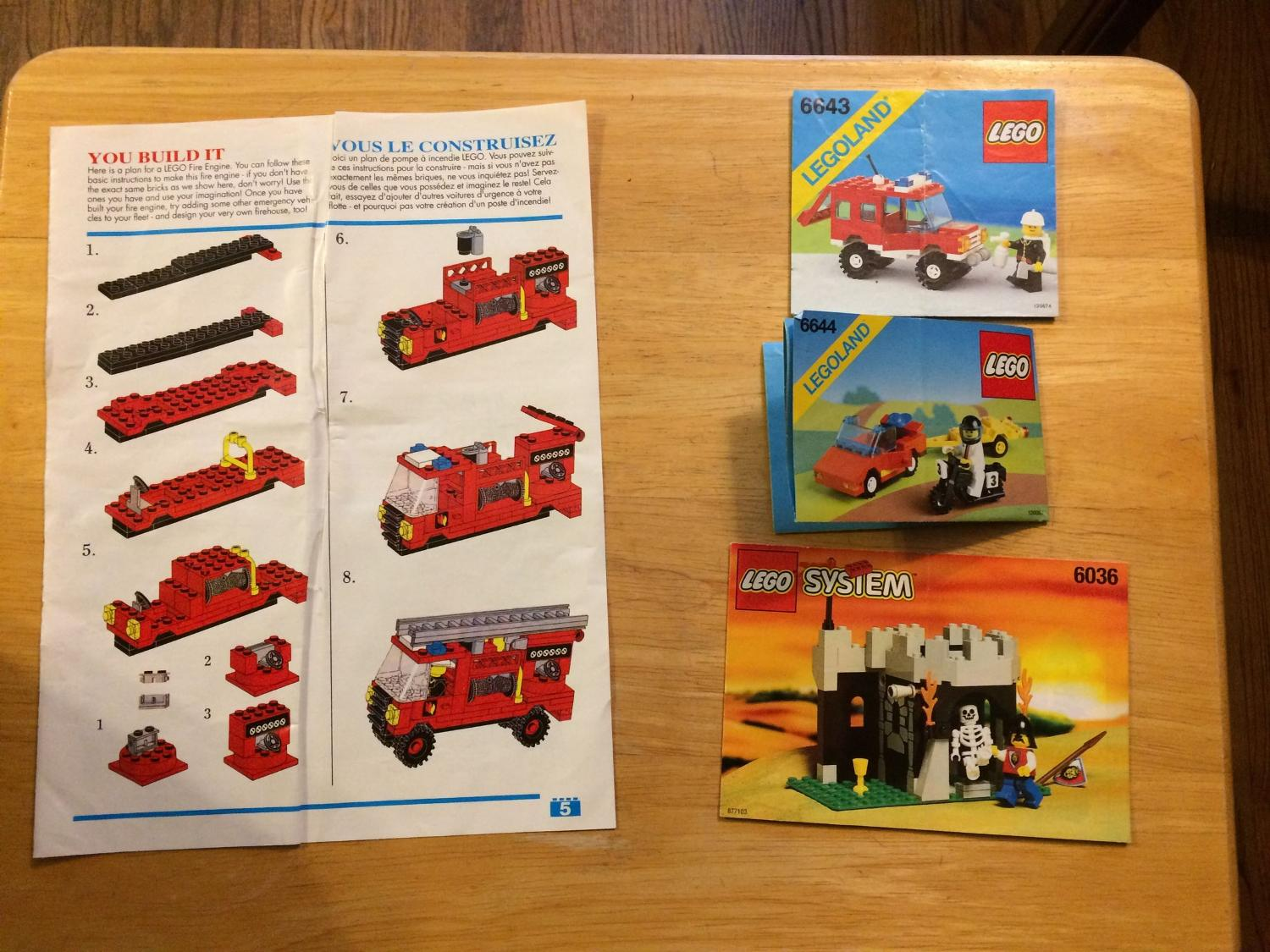 Find More Lot Of Vintage Lego Instructions For Sale At Up To 90 Off