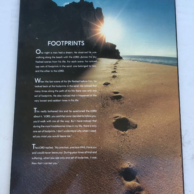 Find more Footprints Poem Wall Decor for sale at up to 90% off