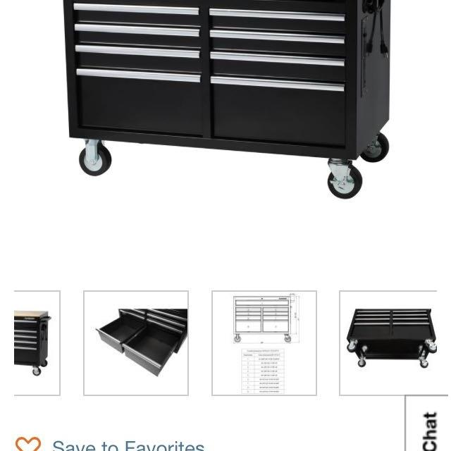 Find More New In Box Husky 46 In W X 245 In D 9 Drawer Mobile