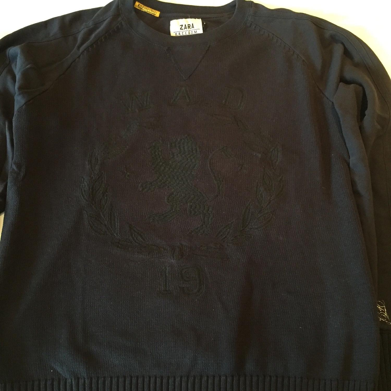 6b20a266 Best Men's Zara Navy Blue Sweater With Tone On Tone Embroidery. for sale in  Dollard-Des Ormeaux, Quebec for 2019