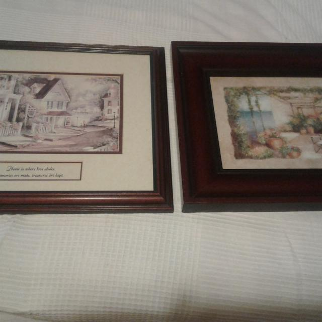 Best Set Of Prints With Dark Brown Frames For Sale In Victoria