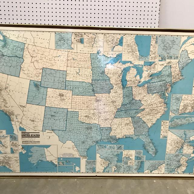 Us Map Picture Frame.Find More Large Vintage Us Map In Frame 51 X 36 For Sale At Up To