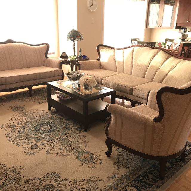 French Provincial Living Room Set (3 pieces)