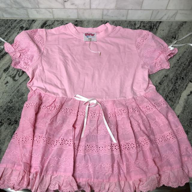 best new aww so cute pink long top size child xs 4 7 great with