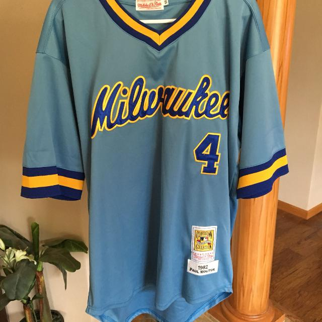 600bfc527 Find more Milwaukee Brewers Paul Molitor Authentic Jersey Size 50 ...