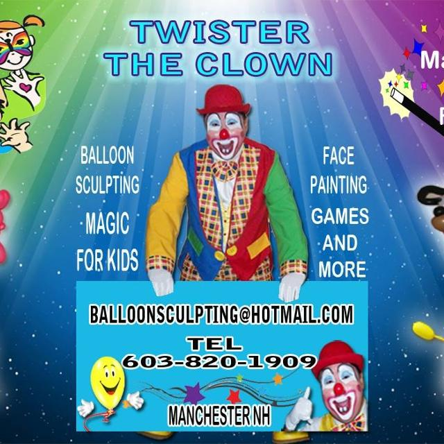 Twister The Clown 2 Hr Special In Manchester New Hampshire For 2019