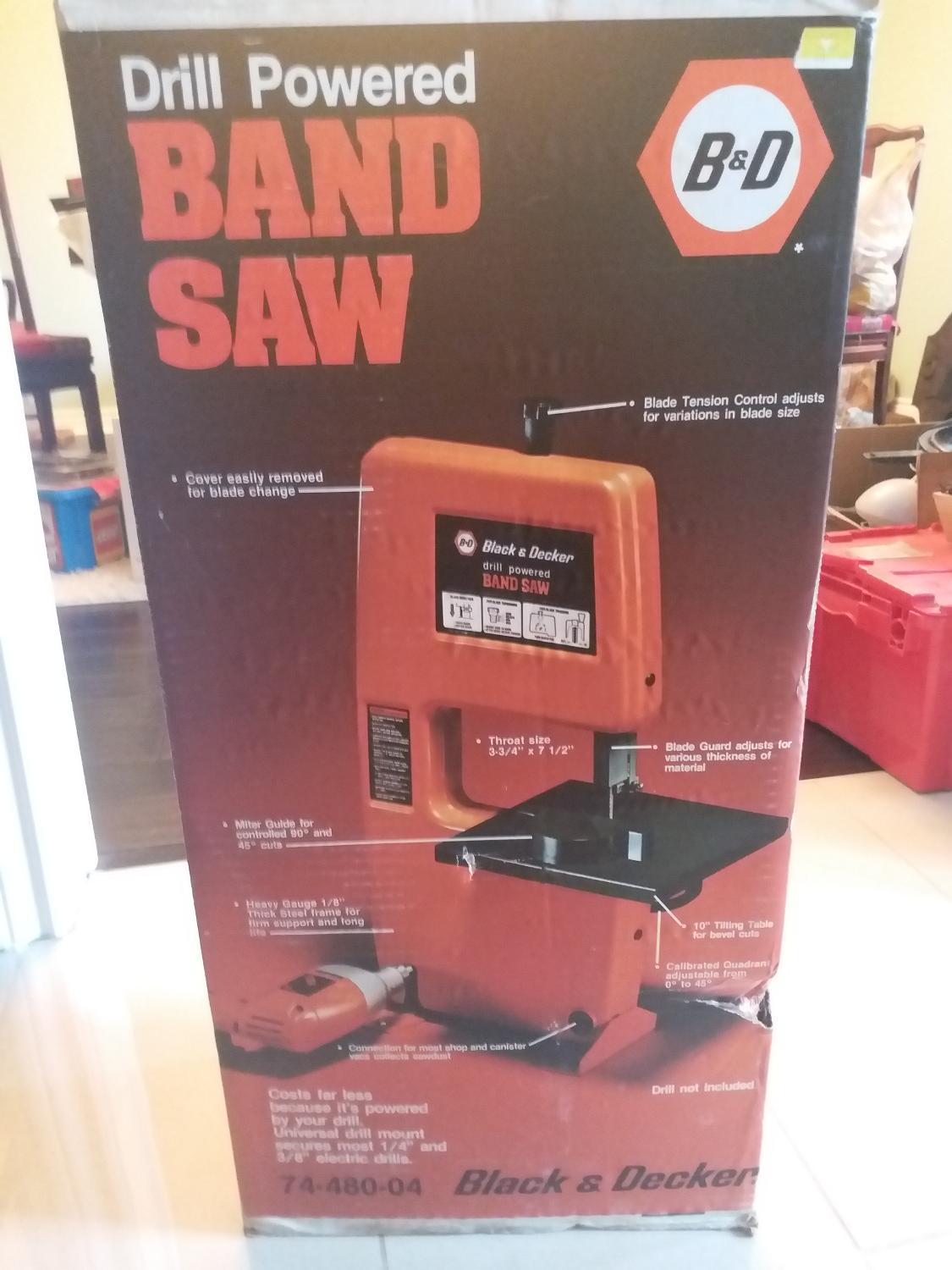 Find more Black & Decker Drill Powered Band Saw Model for sale at up to 90%  off