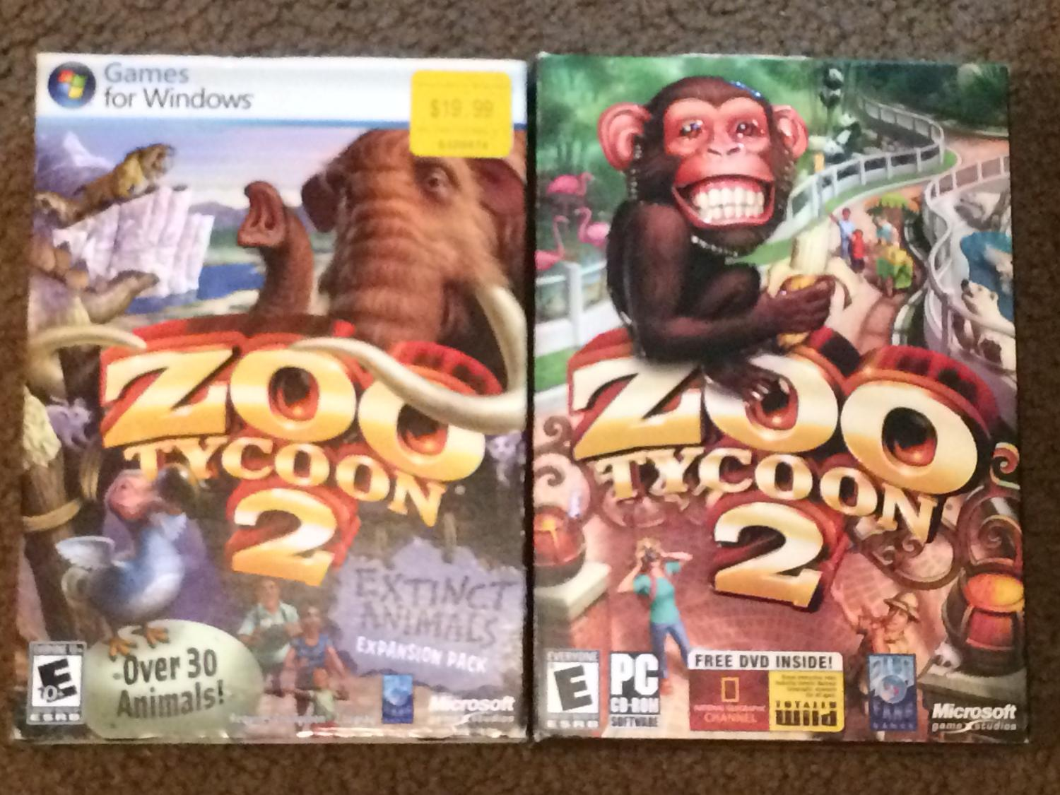 Zoo Tycoon 2 & Zoo Tycoon 2: Extinct Species expansion (PC)
