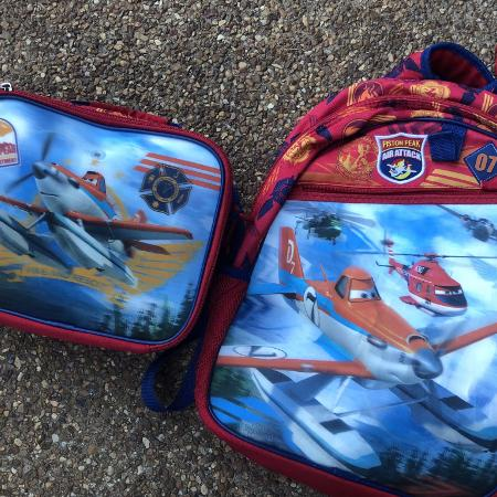 bdff086aadea Disney planes back pack and lunch box