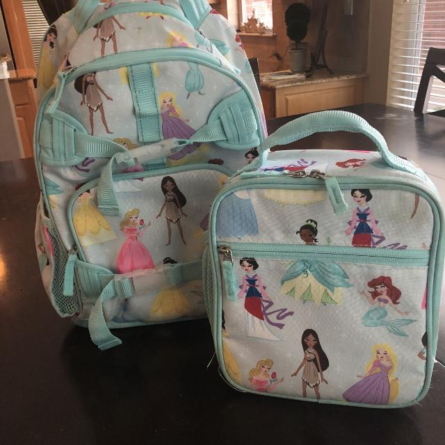 Pottery Barn Disney Princess Large Backpack And Lunchbox