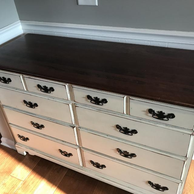 Solid Cherry Dresser Antique Finish