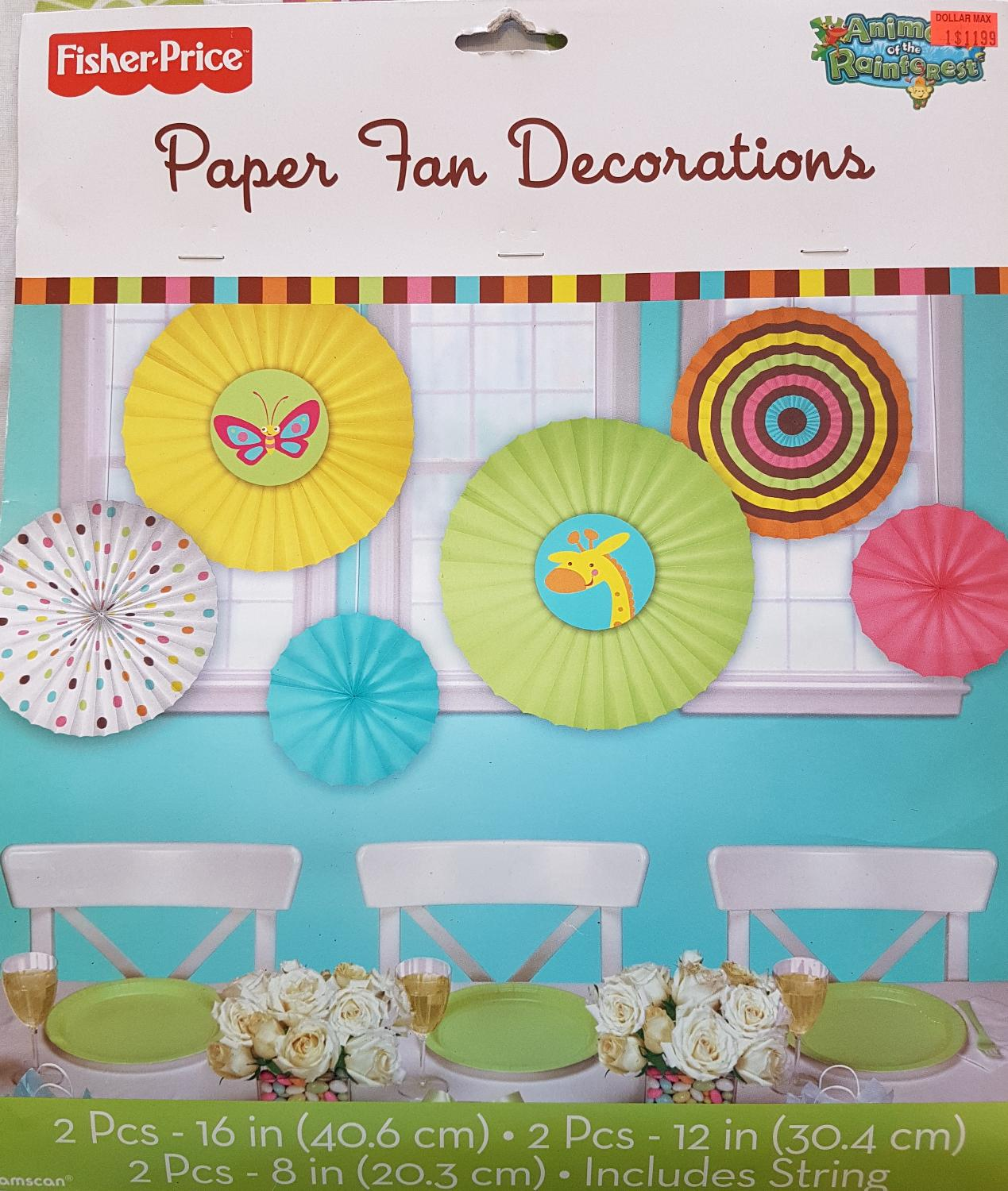 Best Paper Fan Decorations Animal Of The Rainforest For In Vaudreuil Quebec 2019