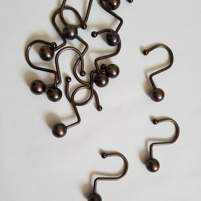 Best Set Of 12 Antique Bronze Shower Curtain Rings For Sale In Aurora Colorado 2019