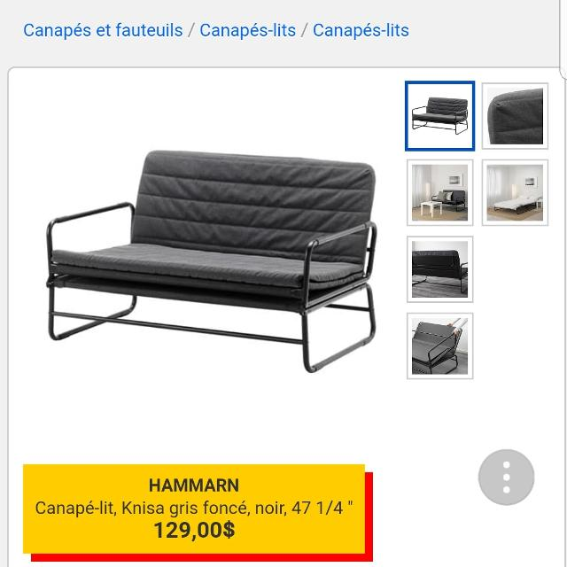 Find More Canape Lit Ikea Hammarn For Sale At Up To 90 Off