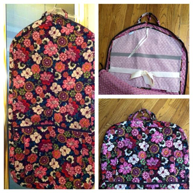 291672799f Best Reduced 50 Rare Vera Bradley Garment Bag In Mod Fl Pink