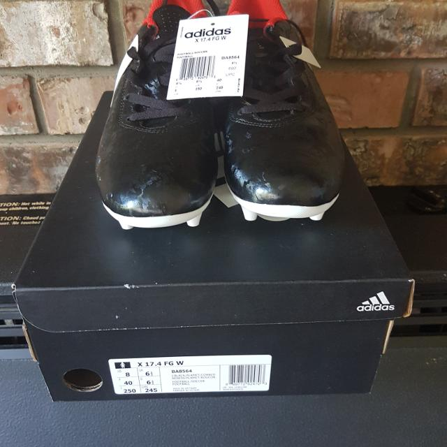 9ba7b649a Best Brand New Adidas X 17.4 Fg Black/platinum Metallic/red Women's Soccer  Cleats - Model Ba8564 Size 8 for sale in Ladner, British Columbia for 2019