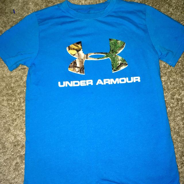 Find More Boys Size Small Under Armour T Shirt Camo Symbol Great
