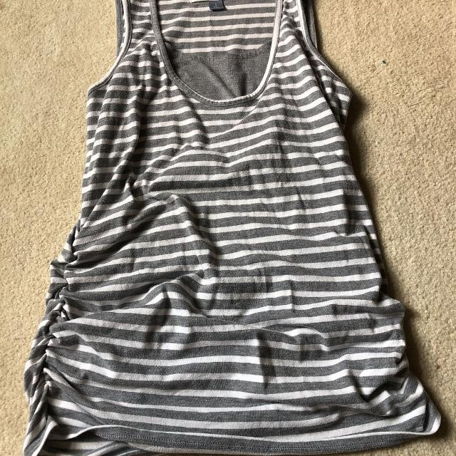 49b97a9669e Find more Old Navy Gray Stripped Nursing Tank Top for sale at up to ...