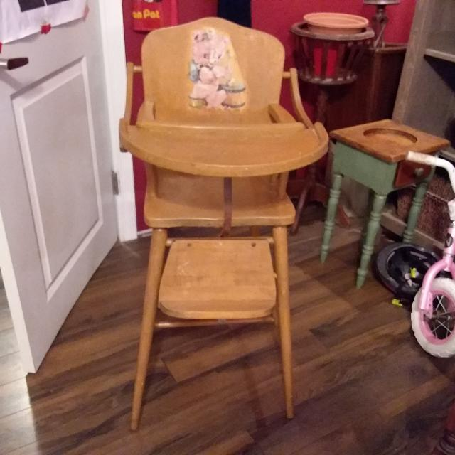 Antique Wooden high chair (Cross posted in baby feeding) - Find More Antique Wooden High Chair (cross Posted In Baby Feeding